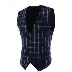 6375 Single-Breasted Black Slim Fit Suit Vest