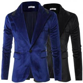 6419 Fit Mini One Button Velvet Suit Coat Jacket