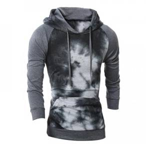6421 Color Washed Fashion Hooded Hedging Sweater