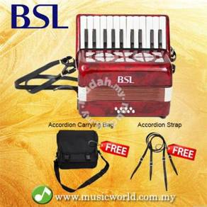Bsl accordion 22 key 8 bass accordion red