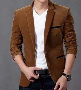6374 Casual Slim Fit Corduroy Suit Coat Jacket