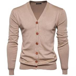 8445 Simple Multi Color Knitted Coat Jacket