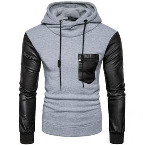 8542 Color Pocket Design Casual Hoodie Sweater