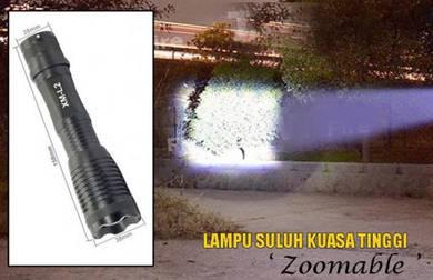 Lampu Suluh Kuasa Tinggi Boleh Zoom 2500 Lumens