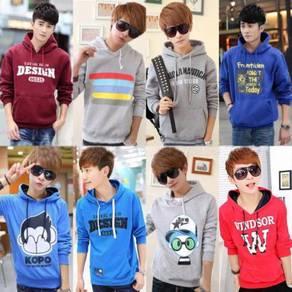 10438 Korean Hooded Men's Hedging Sweater Jacket