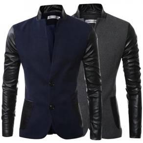 6371 Fashion Design Upright Collar Sportsman Coat
