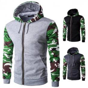 6211 Camouflage Long-sleeved Hooded Jacket