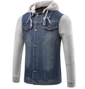 6379 Male Denim Hooded Coat Jacket