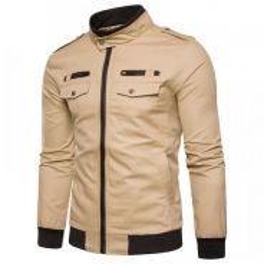 8889 Double Pockets Coat Jacket