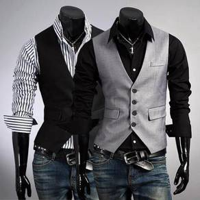 6401 Fake Pocket Casual Men's Waistcoat Vest