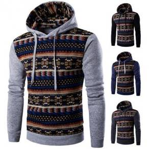 6367 Wind Spell Color Leisure Hooded Sweater