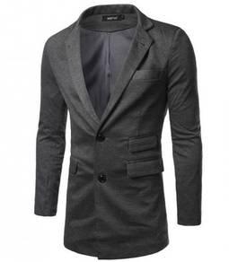 5168 Long Slim Fit Leisure Pocket Suit Coat