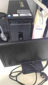 USED i5-4590, 4GB RAM + HP MONITOR + KEYBOARD