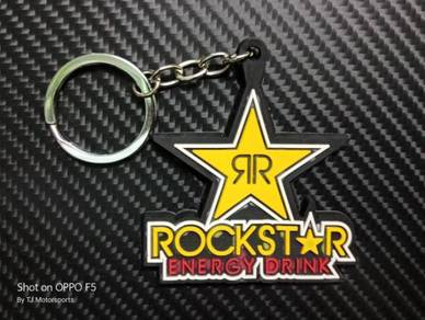 Rockstar Energy Drink Keychain