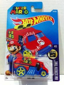 Hotwheels 2016 Super Mario Cool-One #4 Red & Blue