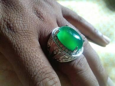 Cincin batu akik yaman hijau
