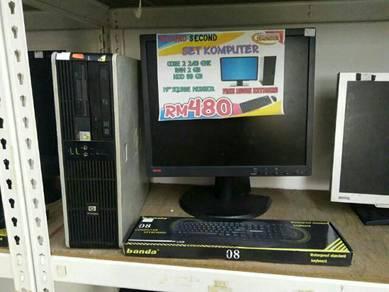 Set HP Compaq Core 2 Duo Lcd 19inci