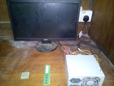 Monitors/processor/power suply and ram