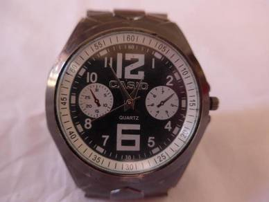 Casio Black Round Dial Watch