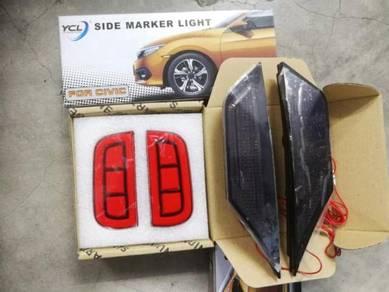 Honda Civic fc side marker bumper reflector LED