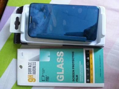 Flip wallet phone case dan screen protector