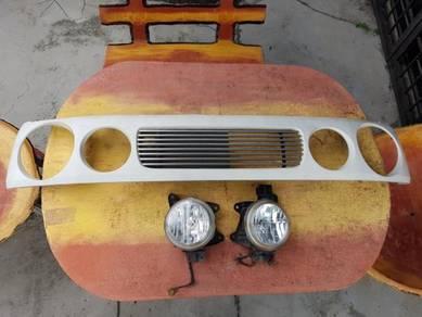 L9 metal billet grill aerodown dengan headlamp