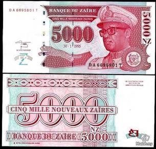 Zaire 5000 nouveaux 1995 p 69 unc