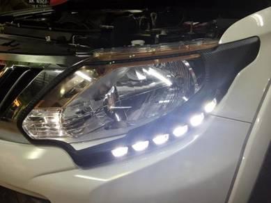 Mitsubishi triton head & tail lamp cover w led