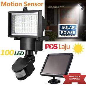 100 LED Solar Power Light Motion Sensor Lamp