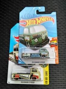 Hotwheels Volkswagen T2 Pickup Green Set