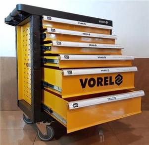 Vorel YT-58540 6 Drawer Tool Cart With Tools 177pc