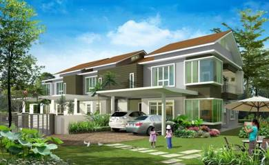 Kajang 24x120 new double STOREY house launching