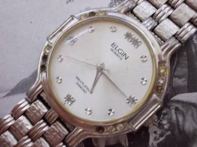 Original Elgin gent platinum plated watch