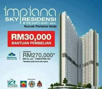 Apartment at Bukit Jalil 100m facing Pavillion Mall - Subsidy RM30K