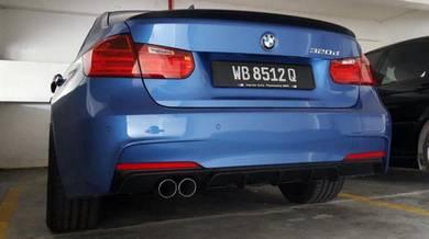 BMW F30 Dual Tailpipe