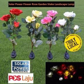 Solar Power Flower Rose Garden Stake Landscape