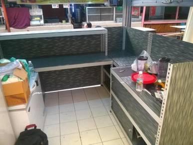 Stall Counter ( Boltless ) Custom Made