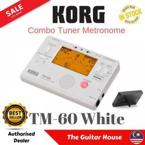 Korg TM-60 Combo Tuner Metronome, White (TM60)