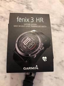 Jam watch garmin fenix 3 HR gps multi sport