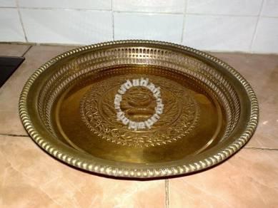 Antique brass tray dulang tembaga 1
