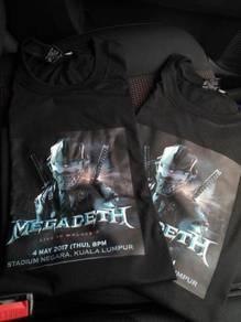 Megadeth LIVE in MY 2017 tshirt