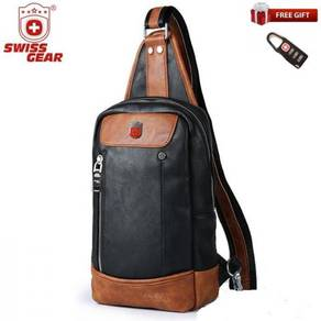 Swiss Gear PU Leather Cross Body Sling Shoulderbag