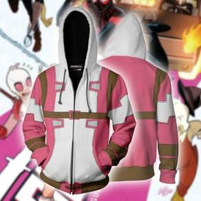 Gwenpool Zipper Pink White hoodie jacket RBT0099