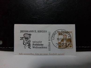 Germany Stamp, 1983 Merry Christmas franking