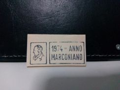 1974 Italy envelope cut out, Marconi