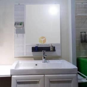 Aluminium bathroom hanging mirror-white colour