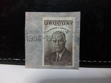 1953 Uruguay Stamp, Tribute to Roosevelt
