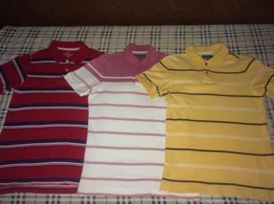 Uniqlo men striped polo shirt- dknt topman