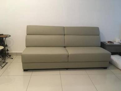 Wide sofa (faux leather) for sale