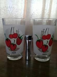 119 Gelas sunquick not pepsi coke kopitiam glass